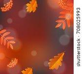 hello autumn poster | Shutterstock . vector #708025993