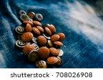 yellow and orange clasper  ...   Shutterstock . vector #708026908