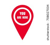 marker location icon with you... | Shutterstock .eps vector #708027034
