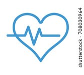 line heartbeat vital sign to... | Shutterstock .eps vector #708030964