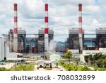 mae moh coal power plant in... | Shutterstock . vector #708032899