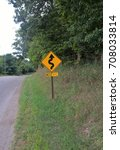 Small photo of Winding Road Ahead Sign