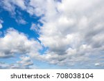 Small photo of Landscape blue sky and big fluffy clouds. Background of the firmament. Weather scene day.