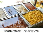 thai mixed shaved iced dessert... | Shutterstock . vector #708041998