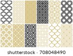 seamless pattern in asian and... | Shutterstock .eps vector #708048490