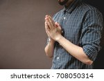 pay respect prayer concept for... | Shutterstock . vector #708050314