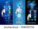 future technology banner ... | Shutterstock .eps vector #708050734