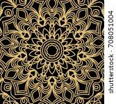 geometric floral seamless... | Shutterstock . vector #708051004