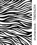 zebra print  animal skin  tiger ... | Shutterstock .eps vector #708056254