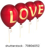 red balloons decorated with... | Shutterstock . vector #70806052