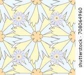 traditional folk flowers... | Shutterstock . vector #708064960