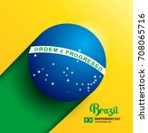 brazil independence day... | Shutterstock .eps vector #708065716