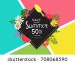 summer sale  abstract... | Shutterstock . vector #708068590