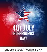 independence day in usa... | Shutterstock . vector #708068599