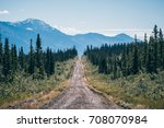 driving towards nabesna on the... | Shutterstock . vector #708070984