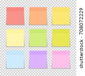 sticky paper note on... | Shutterstock . vector #708072229