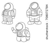 vector set of astronaut | Shutterstock .eps vector #708072784