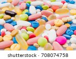 colorful pills. medical or... | Shutterstock . vector #708074758