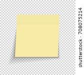 sticky paper note on... | Shutterstock . vector #708075214