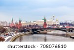 view of the moscow kremlin....   Shutterstock . vector #708076810