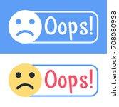 oops  flat vector badge  mark ... | Shutterstock .eps vector #708080938