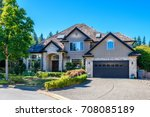 luxury house in vancouver ... | Shutterstock . vector #708085189