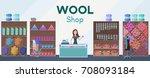 wool shop interior template...   Shutterstock .eps vector #708093184