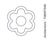 flower icon. vector. violet... | Shutterstock .eps vector #708097048
