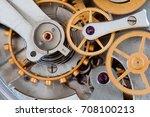 stopwatch chronometer mechanism ... | Shutterstock . vector #708100213