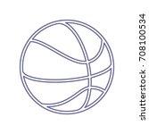 basketball linear icon. vector. ... | Shutterstock .eps vector #708100534