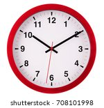 wall clock isolated on white... | Shutterstock . vector #708101998