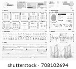 vector hud elements set for... | Shutterstock .eps vector #708102694