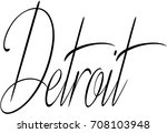 detroit text sign illustration... | Shutterstock .eps vector #708103948