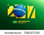 brazil independence day... | Shutterstock .eps vector #708107230