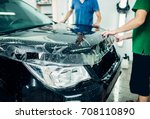 transparent film  car paint... | Shutterstock . vector #708110890