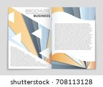 abstract vector layout... | Shutterstock .eps vector #708113128