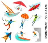 extreme sports color... | Shutterstock .eps vector #708116128