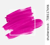 logo brush painted textured... | Shutterstock .eps vector #708117646