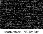 math vector seamless pattern... | Shutterstock .eps vector #708124639