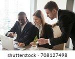 group of multinational... | Shutterstock . vector #708127498