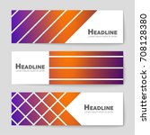 abstract vector layout... | Shutterstock .eps vector #708128380