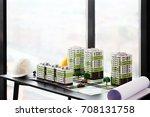 model of residential quarter... | Shutterstock . vector #708131758