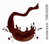 chocolate drops vector. drink... | Shutterstock .eps vector #708132058