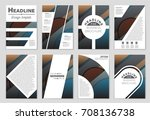 abstract vector layout... | Shutterstock .eps vector #708136738