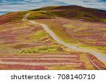 scenic road   of the beautiful ... | Shutterstock . vector #708140710