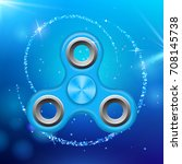 blue colorful spinner on an... | Shutterstock .eps vector #708145738