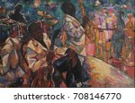 singer  jazz club  saxophonist ... | Shutterstock . vector #708146770