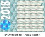 simple horizontal calendar in