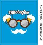 modern oktoberfest logo design... | Shutterstock .eps vector #708155749