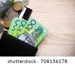dollar australia banknotes and... | Shutterstock . vector #708156178
